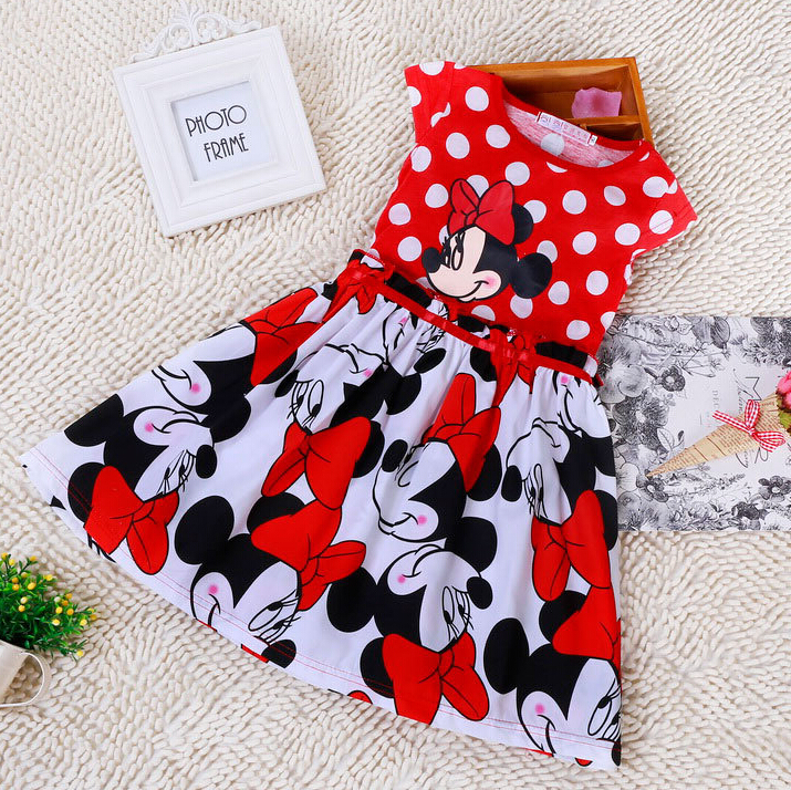 Girls Minnie Dresses For Party Children Clothing Vestidos Infantis Princesa Kids Girl Princess Costumes Summer Baby Kids Clothes(China (Mainland))
