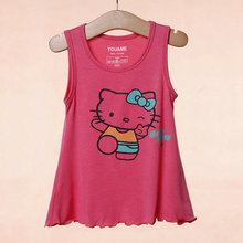 Summer Girl Clothes 2016 Lovely Cute High Quality Children Kids Girls Party T-shirts Casual Baby Girl Tee Hot Sale