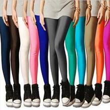 2015 Plus Size Ca Color Women's High Stretched Autumn Summer Neon Leggings-DDK30-Ca(China (Mainland))