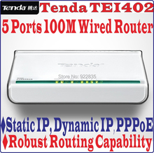 5 Ports Tenda TEI402 10/100Mbps Wireled SOHO BROADBAND ROUTER 100M 4 Port Access Point & Router Ethernet Switch, No Color Box(China (Mainland))