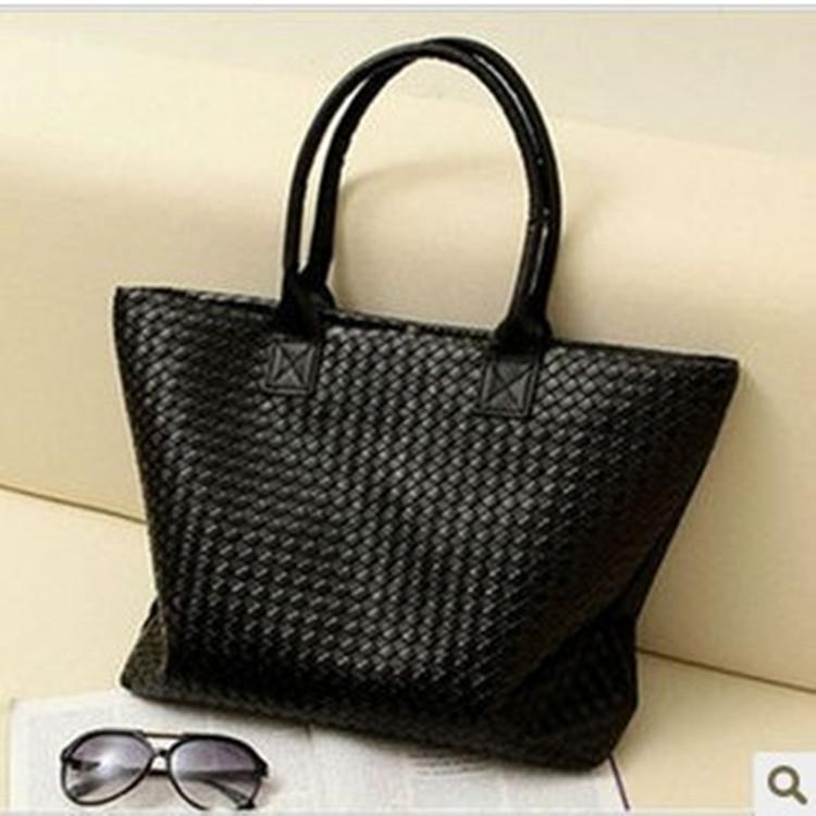 2014 New arrival lady handbag,All-match knitted bag womens handbag brief large capacity shoulder bag plaid bag<br><br>Aliexpress