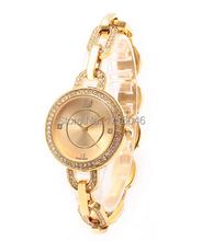 7 colores completa de lujo del diamante del diamante reloj de cuarzo reloj pulsera de cuarzo de acero inoxidable