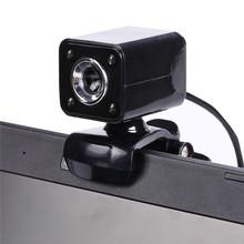 New Webcam USB 2.0 web camera 5.0 Mega Pixels Webcamera 4 LED Webcam Web Cam with Microphone Webcam 640*480 for Laptop Computer