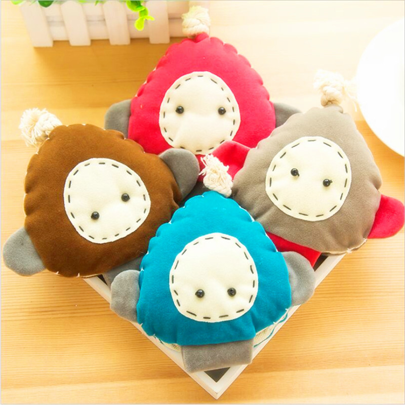 Hot Cute Cartoon Korean Style Woolen Nonwovens Cotten Stuffed Plush Toy Portable Key Holder Weight Wallet Lovely<br><br>Aliexpress