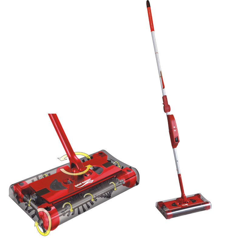 Portable Sweeper 360 Degree Cordless Swival Rechargeable Electric Mop Rod for Floor Vacuum Cleaner Household Broom(China (Mainland))