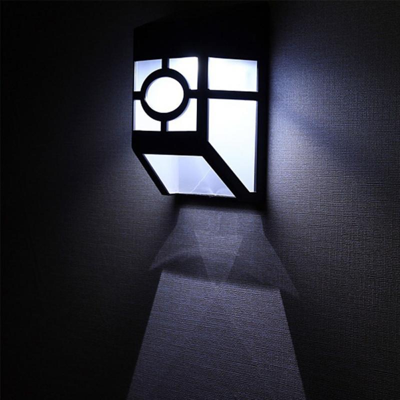Energe saving LED Solar Light 2 LEDs Waterproof IP44 Light Sensor Outdoor Light Path Corridor Wall Lamp Spot Lighting(China (Mainland))