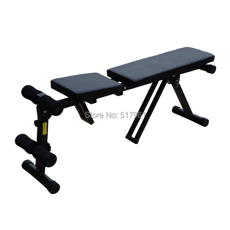 New Multi-Us Adjustable Folding Exercise Sit Bench Abdominal Gym Black - Fashionwesta store