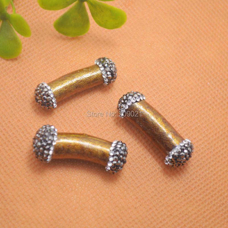 DIY! 8pcs Druzy Golden Coral Stone & Rhinestone Crystal Connector Beads Jewelry Making(China (Mainland))