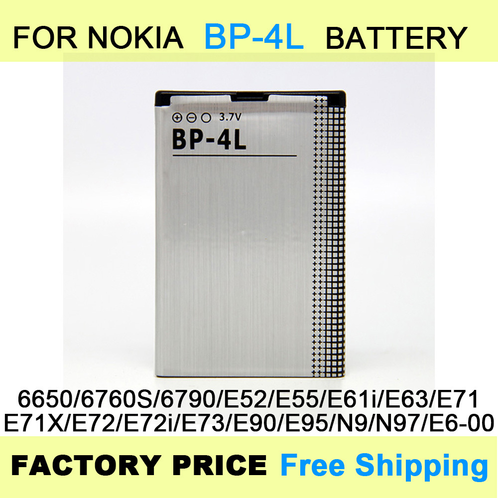 Free Shipping BP 4L BP 4L Mobile Phone Battery Batteries for NOKIA E61i E63 E90 E95