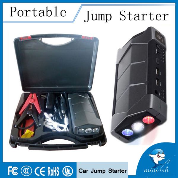 MiniFish Emergency Portable Mini Jump Starter Booster Battery Charger Jump Start For 12V Car Starting Device Power Bank(China (Mainland))