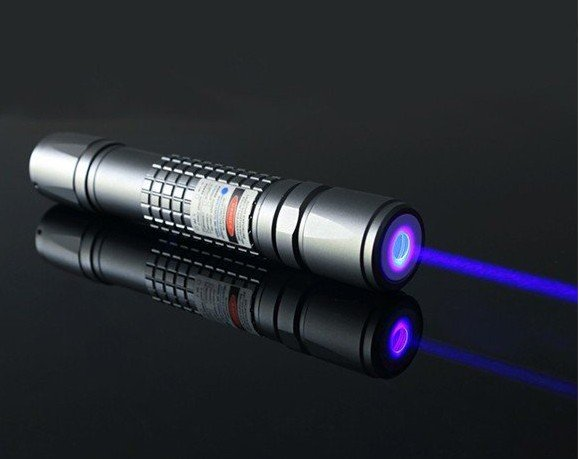 Фотография Focusable high power blue laser pointer 450nm 447nm 50000mW 50w high power  flashlight light cigars with 5 star caps