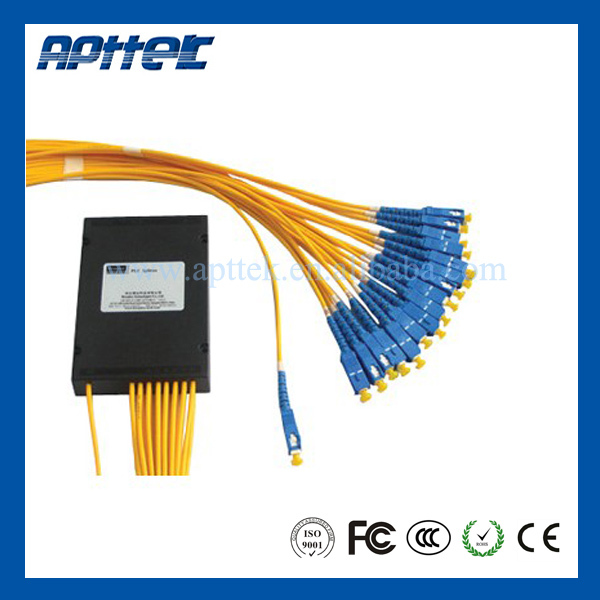 Free shipping 1m 2 pcs 1*8 SC/FC fiber optic splitter with chinese supplier(China (Mainland))