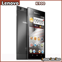 Original Lenovo K900 16GBROM 2GBRAM 3G WCDMA & GSM Smartphone 5.5inch Android 4.2 Atom Z2580 Dual Core Support OTG Play Store
