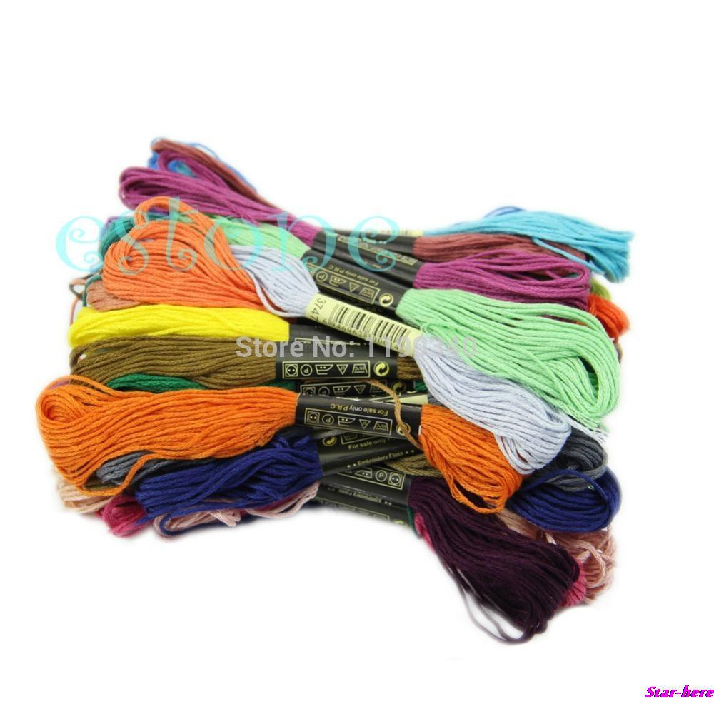 Hot-selling 50Pcs Anchor Craft Cross Stitch Cotton Embroidery Thread Floss Sewing Skeins Lots free shipping(China (Mainland))