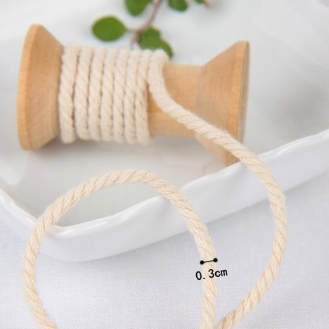 2015 New DIY cotton rope twisted cotton rope diameter 0.4cm (90 meters/lot)(China (Mainland))