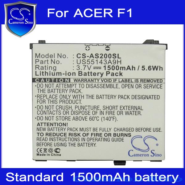 Cameron Sino 1500mAh Rechargeable Cell Phone Battery for ACER F1 ,neoTouch S200, Newtouch S200 Free Shipping(China (Mainland))