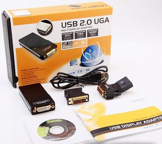 New 1080P Video Graphics USB 2.0 to DVI VGA HDMI Displaylink Adapter Converter(China (Mainland))