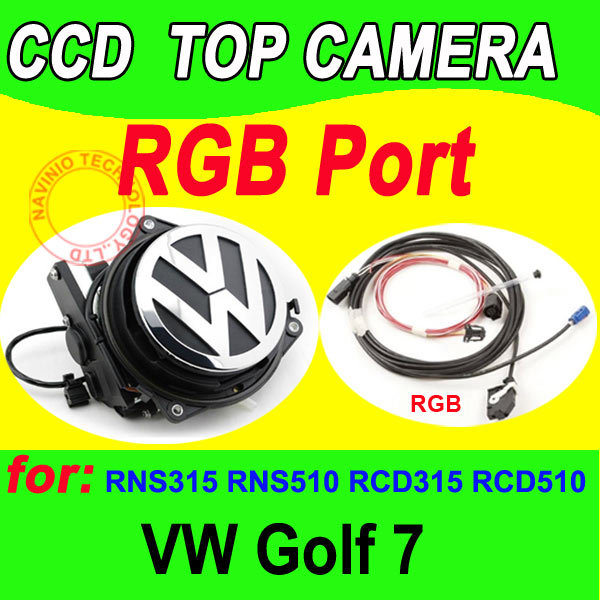 CCD OEM Emblem Logo Rear View Auto Flip reverse Car Trunk Handle Camera for VW Golf 5 6 7 GTI R golf MK Waterproof Night Vision(China (Mainland))