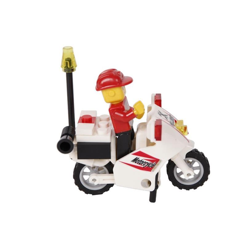 Kids Toys Fire Truck Building Blocks Set (567 Pieces) with Fire Chief Motorcycle Learning Educational Toys