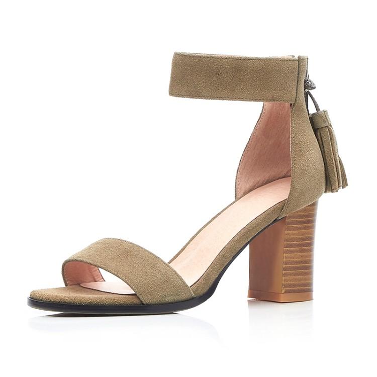 Фотография 2016shoes woman summer sandals high heel Platform Pumps Genuine leather ankle strap women platform shoes zapatos mujer 2colors