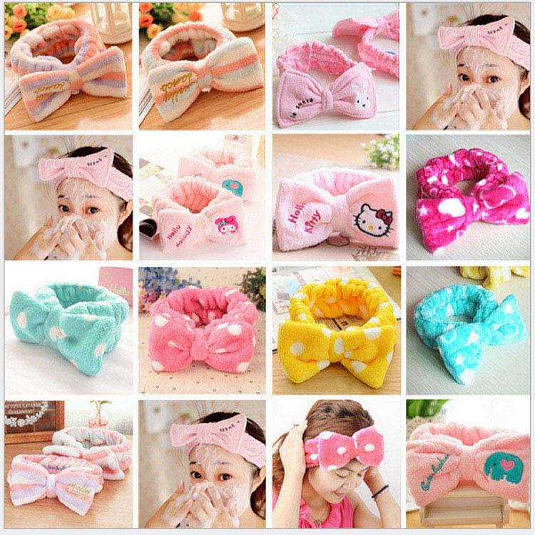 1pc Fashion lady girl women sweet butterfly Headwear bowtie elastic cosmetic headband Hair Band Free shipping,GL-HDJ(China (Mainland))