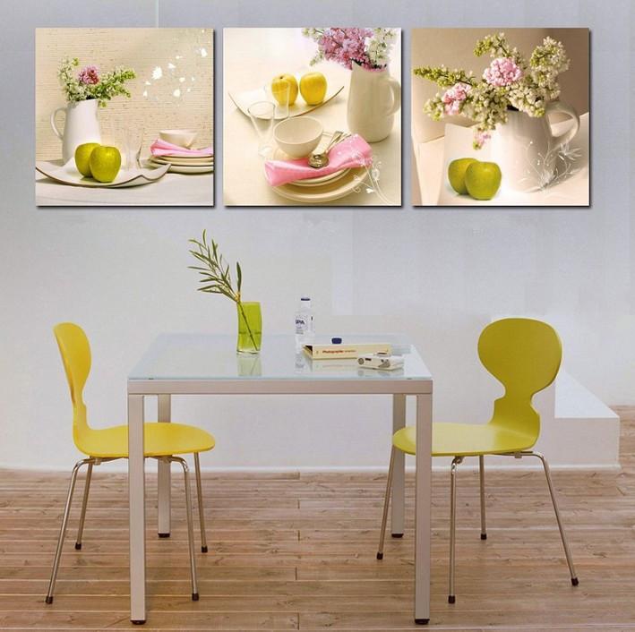 3 panels kitchen fruit decoration canvas abstract painting - Cuadros de cocina modernos ...