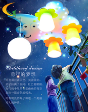 Romantic master bedroom moon and  stars cartoon boy and girl children's room ceiling LED lighting lamp(China (Mainland))