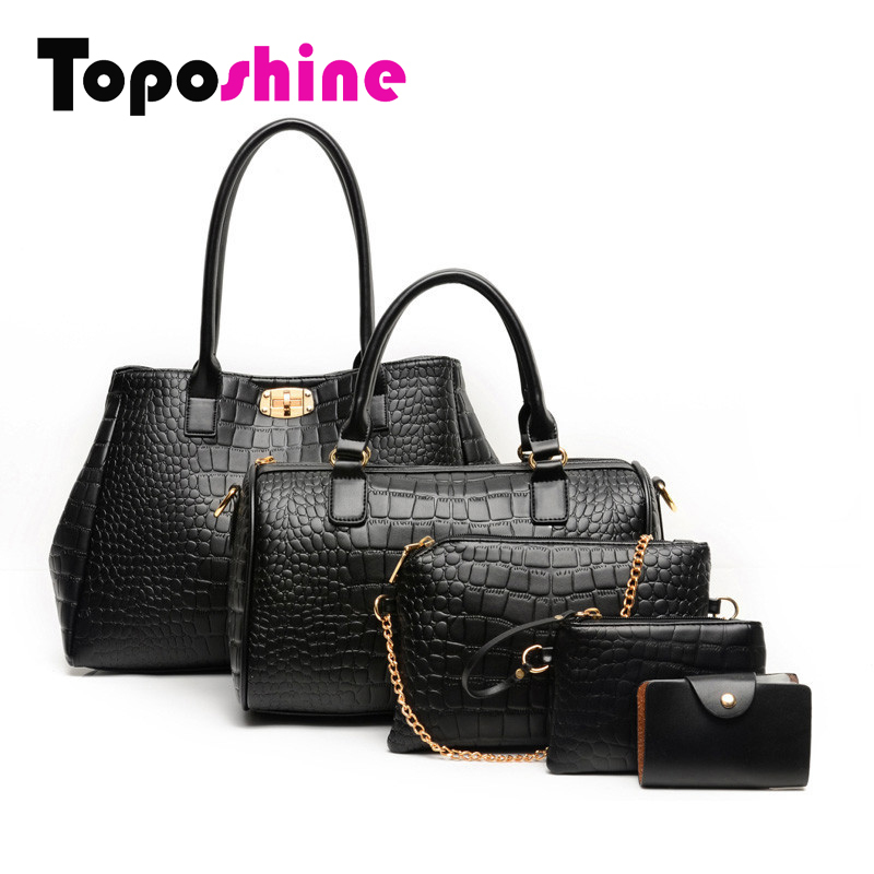 Quality Guaranteed Business 5 Bags per Set 3 Colors Women Bag Bolsos Desigual Bag Women Handbag+Shoulder Bag+Clutch Wallet+Card<br><br>Aliexpress