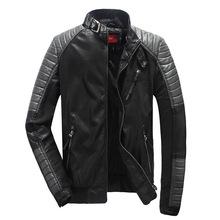 David Backham Jacket Autumn Winter Causal Dress Brand Sheepskin Leather Jacket Men Splice Design Nuback Leather Short Suede Coat(China (Mainland))