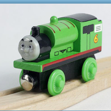 "Free shipping "" percy"" model  Wooden Magnetic Thomas and Friends toys baby learning & education classic toys -DS021(China (Mainland))"