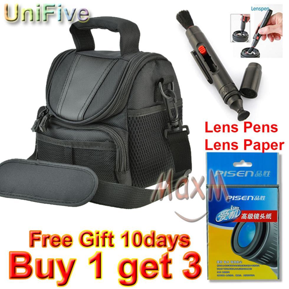 Universal Camera Bag + Lens Pen + Lens Paper DV Case For DSLR Nikon Canon Pentax Sony Panasonic Fujifilm Gopro Kodak D3200 600D(China (Mainland))