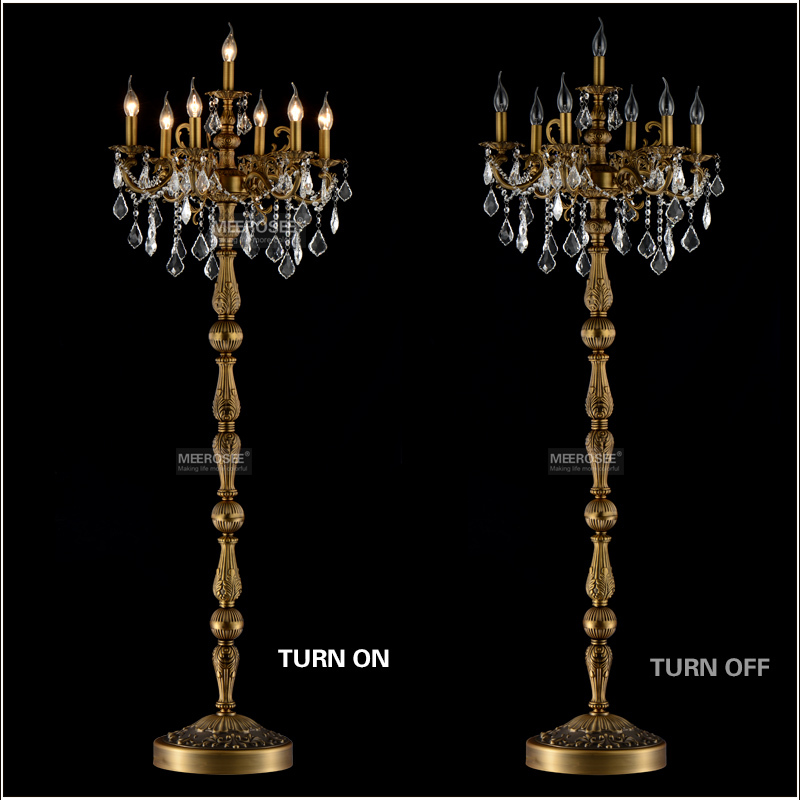 lamp floor stand light fixture cristal lustre candelabra standing lamp. Black Bedroom Furniture Sets. Home Design Ideas