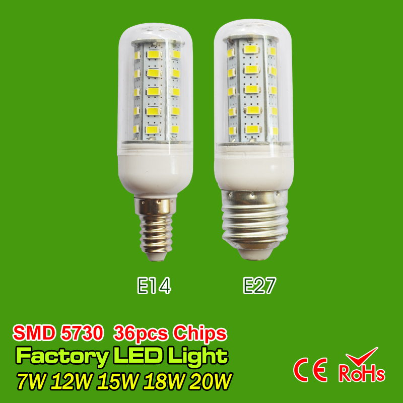 Hot LED Corn bulb SMD5730 E27 E14 LED lamp 110V 220V 7W 9W 12W 15W 20W bulbs lihgt 24&36&48&56&69led Warm White Cold White(China (Mainland))