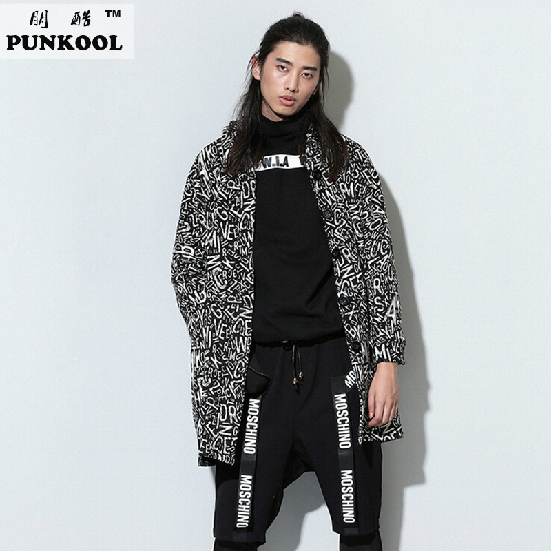 2015 America Style Mens Hip Hop Trenches And Coats Letter And Grid Printed Trenches Long Hooded Fashion High Quality Mens CoatsОдежда и ак�е��уары<br><br><br>Aliexpress