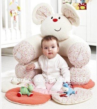 In Stock  Free Shipping ELC Blossom Farm Sit Me Up Cosy-Baby Seat,White Mini Mouse Play Mat/Small Baby game pad Come with Pump