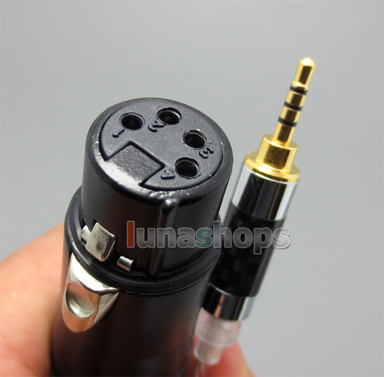 TRRS 2.5mm Balanced To 4pin XLR Female Silver Cable For VentureCraft Soundroid Headphone Amplifier Vantam DSD<br><br>Aliexpress