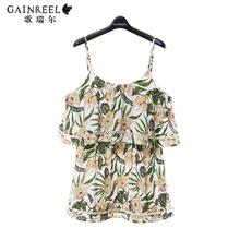 Song Riel sweet summer new printing sleeveless nightgown pajamas sexy sling Ms tracksuit Xiang Yu Lu