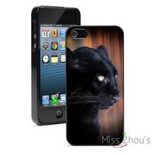 Black Panther Leopard Protector back skins mobile cellphone cases for iphone 4/4s 5/5s 5c SE 6/6s plus ipod touch 4/5/6