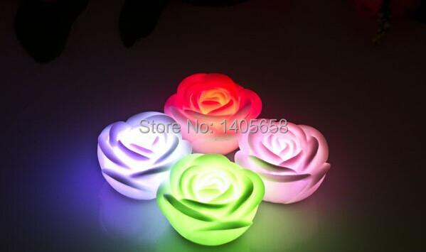 Romantic Rose Flower chrismas decorative light LED Glowing Light  For Concert Wedding Birthday  Party Favors(China (Mainland))