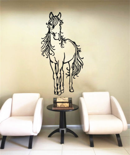 Horse Wall Sticker Art Decal Animal Vinyl Home Living Kids Bedroom Decor Size 109CMX55CM