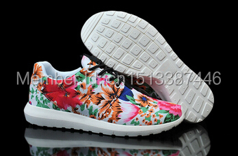 2015 Fashion Women's flowers Roshelyed Run Running Shoes,Cheap Lady's Summer Breathable Shoes(China (Mainland))