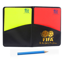 Soccer Referees warning card wallet Match Data Sheets and Pencil Football referee cards Case red and yellow card Free shipping(China (Mainland))