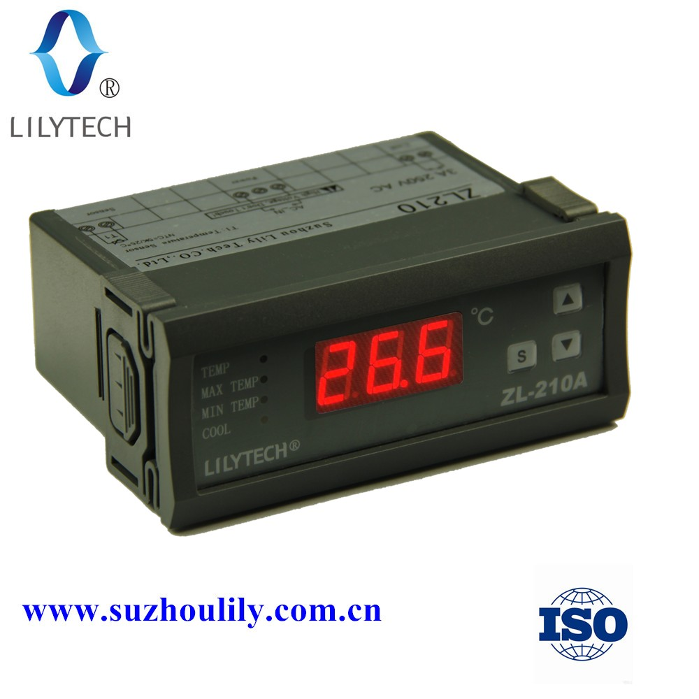 ZL-210A,220V Digital Temperature Controller,Cold Storage Controller,Thermocouple -40 to120 Degree,114*45mm,lilytech controller(China (Mainland))