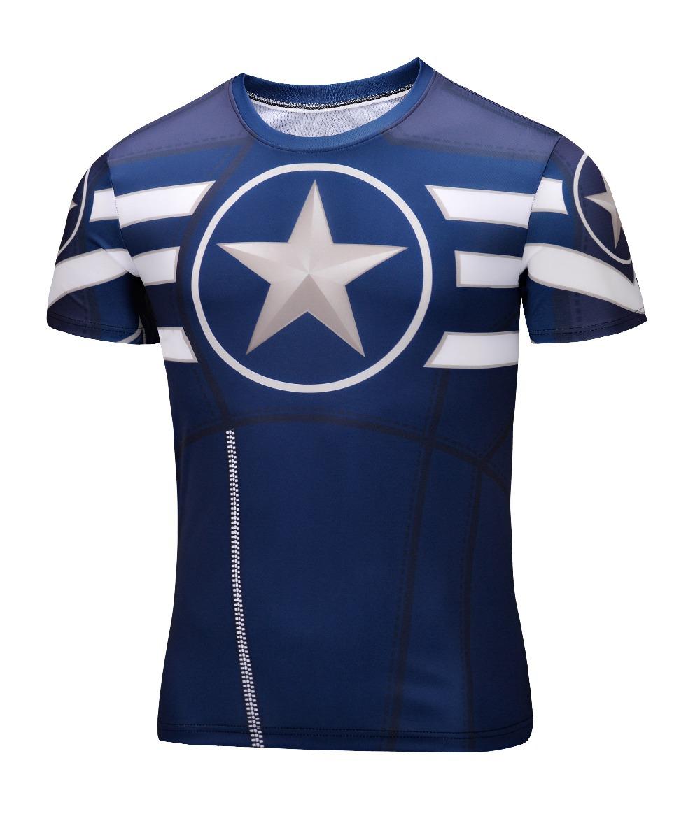 2016 Spiderman Venom Ironman Superman Captain America Winter soldier Marvel T shirt Avengers Costume DC Comics Superhero mens
