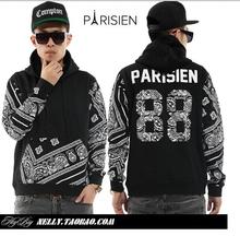 Parisien 88  of number sweatshirt hoodie Diamond supply hoodies 2013 european style Plus size men XL XXL Free shipping(China (Mainland))
