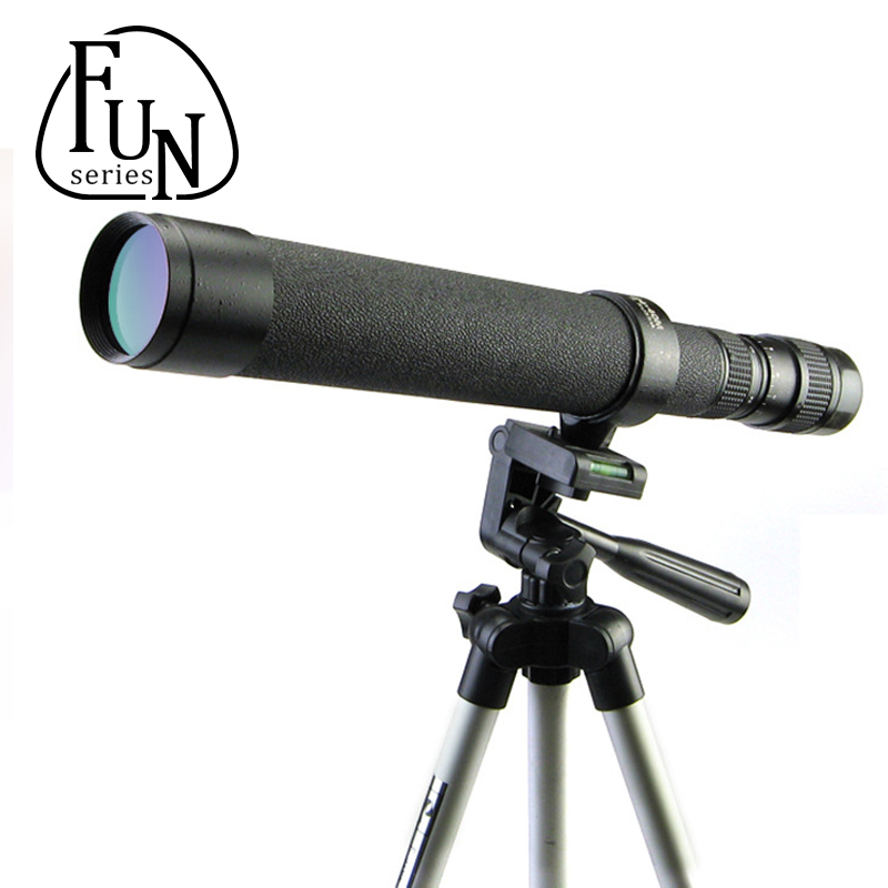 FunSeries 8-24X40 Monocular Pirate Telescope Focuser Tripod Eyepieces Scientific Spotting Scope For Hunting Camping Fishing(China (Mainland))