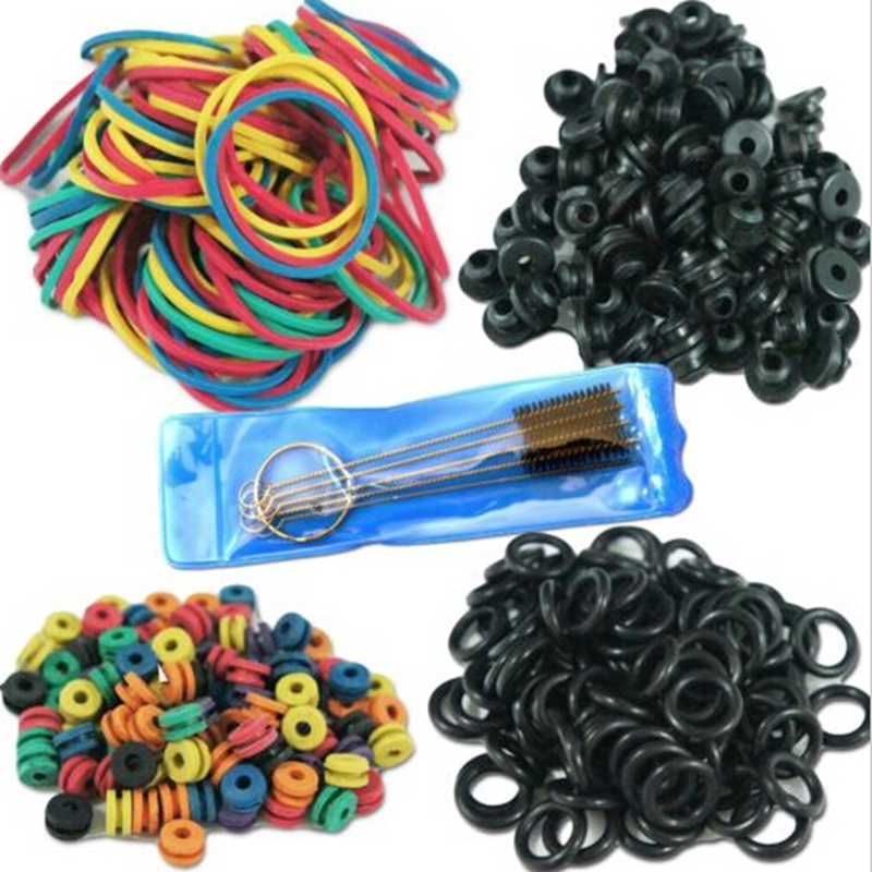 Hot Selling Tattoo Accessories Tattoo Supplies Rubber + O-Rings A-bar Grommet Nipple Bands machine Cleaning Brush free shipping(China (Mainland))