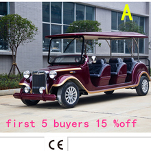 Moldbaby! Custom manufacturers selling 6 TO 8 passenger electric golf car sightseeing scenic park reception car series golf cart(China (Mainland))