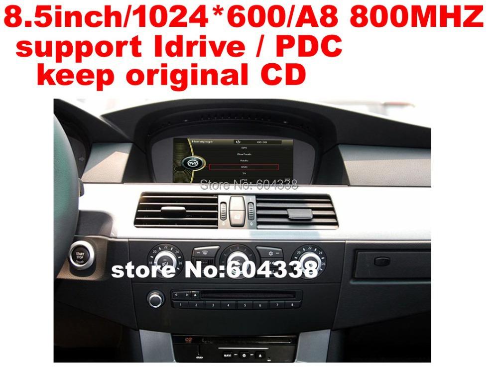 "8.5"" car DVD(with DVD box)/1024*600/800MHZ/support Idrive,PDC/keep original CD for BMW 5 Series E60 E61 E63 E64 (2003 -2010)(China (Mainland))"