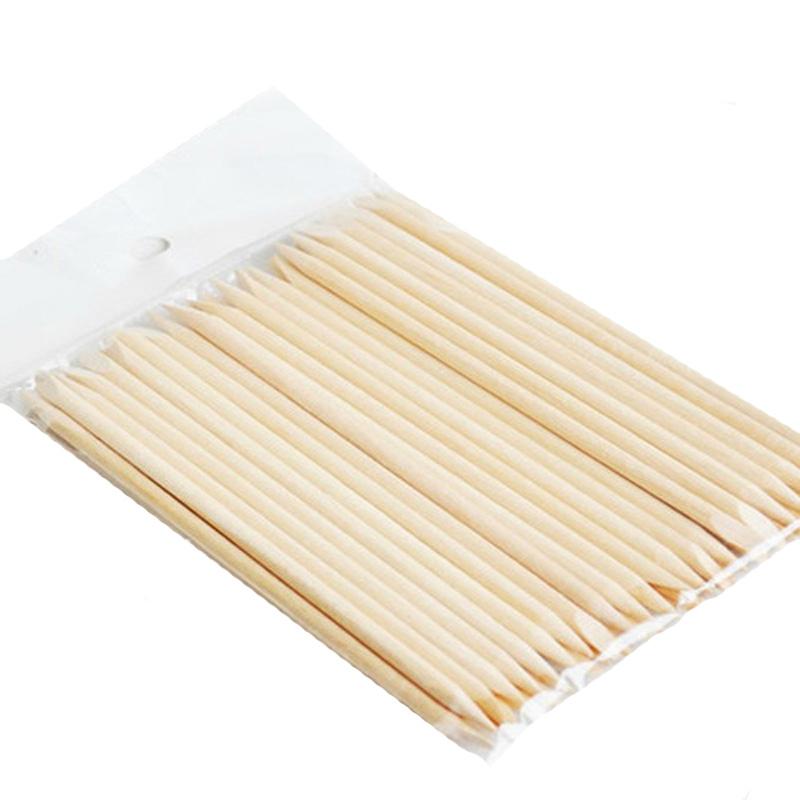High Quality 100 x Orange Wood Stick for Nail Art Brand Orange Weed Stick for Manicure/Nail Art and Pedicure(China (Mainland))